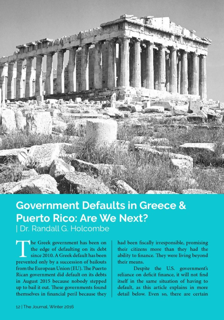 government defaults in greece puerto rico are we next james