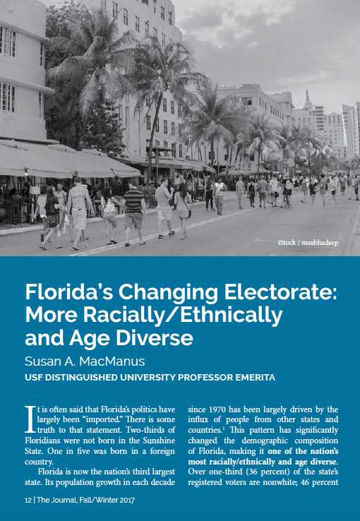 Florida's Changing Electorate: More Racially/Ethnically and